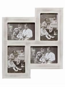 Cadre Photo Multivue : multivue en blanc rustique pour 4 photos fr deknudt frames ~ Teatrodelosmanantiales.com Idées de Décoration