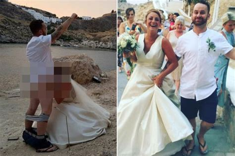 Oral Sex Wedding Photo Brit Couple Face Legal Action As