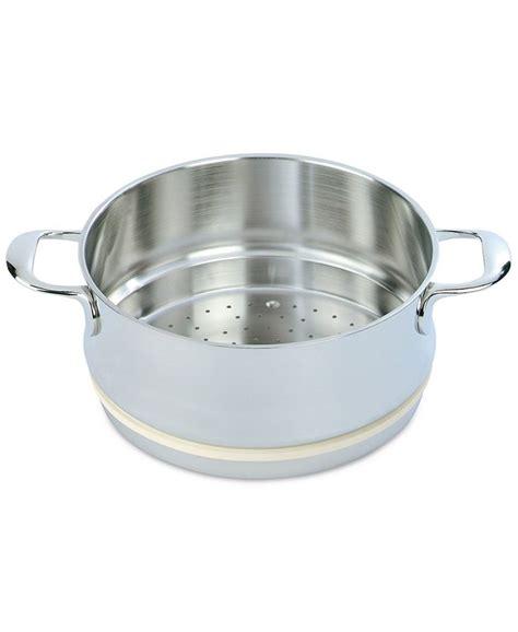 demeyere atlantis  qt stainless steel steamer insert reviews cookware kitchen macys