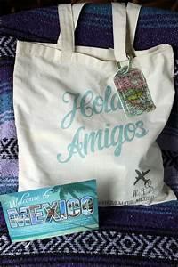 hola amigo tote With destination wedding gift bags