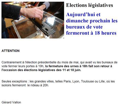 horaire bureau de vote horaire fermeture bureau de vote 28 images c 244 te d