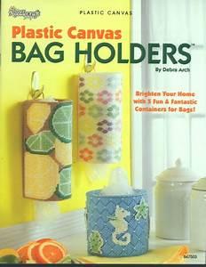 Plastic Canvas BAG HOLDERS Plastic Canvas Home Decor