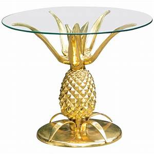 pineapple cocktail table in gold at 1stdibs With pineapple coffee table