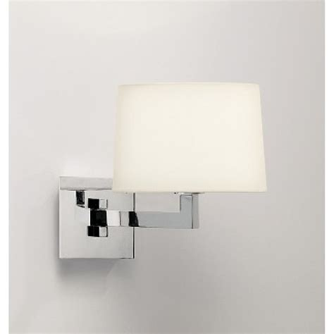 boutique hotel style swing arm wall reading light in