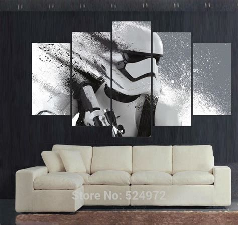 5 panel modern painting on canvas home decor wall picture for living room stormtrooper