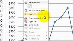 How To Create A Chart In Excel 2010 Youtube
