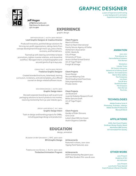 Graphic Designer Experience Resume Format by Creative Architecture Resumes Exmaple Creative Resume Sle Graphic Design