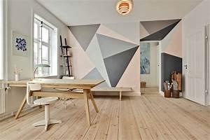 Wandgestaltung Büro Ideen : wand streichen muster und 65 ideen f r einen neuen look ~ Lizthompson.info Haus und Dekorationen