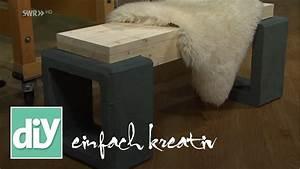 Sichtzäune Aus Holz : kleine schicke gartenbank aus holz und beton diy ~ Watch28wear.com Haus und Dekorationen