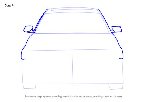 Learn How To Draw Car Front View (cars) Step By Step