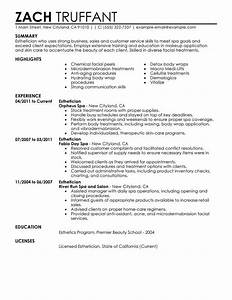 best esthetician resume example livecareer With esthetician resume template