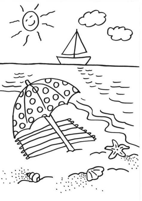 kostenlose malvorlage sommer sonnenschirm ausmalen zum