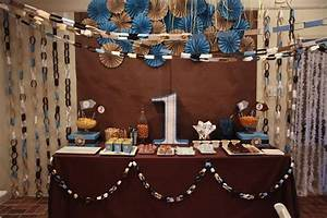 Kara's Party Ideas Blue Brown Boys Birthday Party Planning