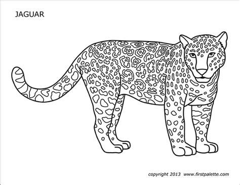 jaguar  printable templates coloring pages