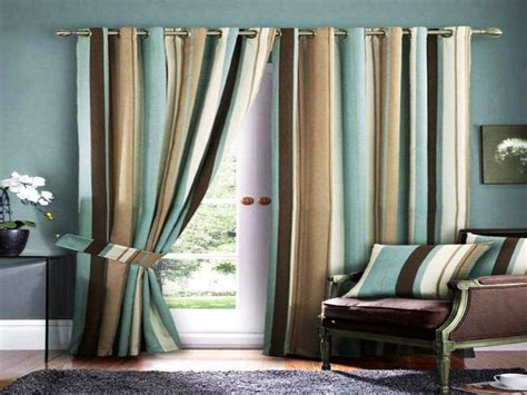 Blue And Brown Living Room Curtains Hanging Curtains Over French Doors Cubicle Curtain Fabric Mill Pleated How To Make Best Length For Bedroom Putting On A Bay Window High Hang Above Lined Panels With Rod Pocket