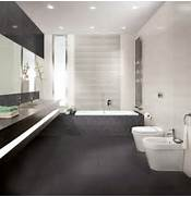 Modern Black House Bright Accents Bathroom Bright Bathroom With Pretty Black Accents Tiles Flooring