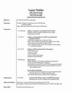 laura illuminated resume demo reel etc With demo of resume for job