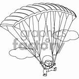Clipart Skydiving Boy Coloring Cliparts Clipground sketch template