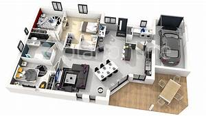 Plan Maison Moderne En 3d En 2020