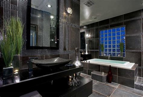 black bathrooms ideas master bathroom tile designs with black color home