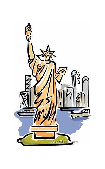 Liberty York Clipart Clip Statue Illustration Vector