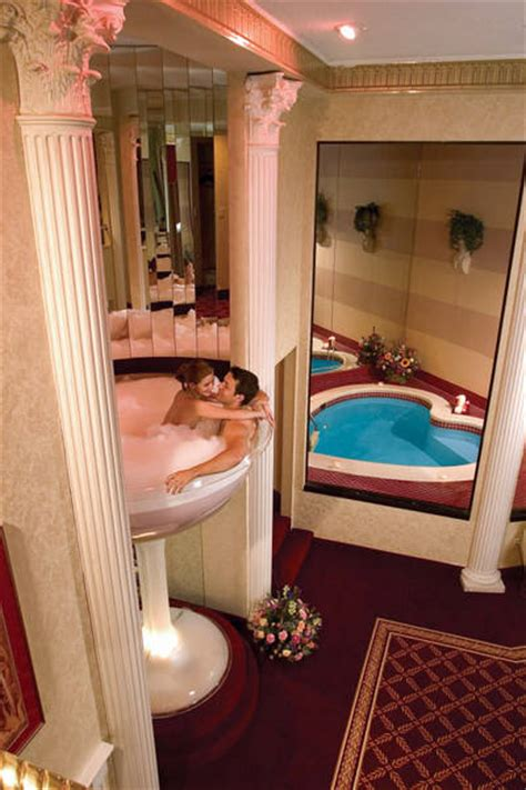poconos glass tub you could spend your honeymoon in a 7 foot chagne glass
