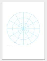 polar graph paper printable polar coordinate paper