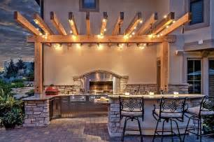 outdoor kitchen lighting ideas string lights patio lighting globe bulbs backyard ideas