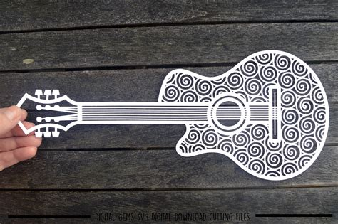 I added a few new designs to the love paper crafts etsy shop. Guitar paper cut SVG / DXF / EPS files