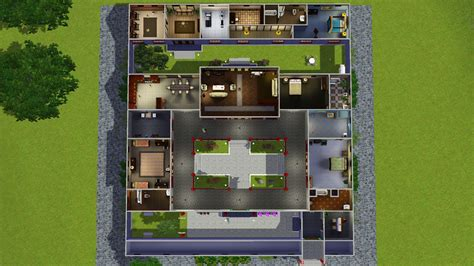 mod  sims jade traditional chinese courtyard house