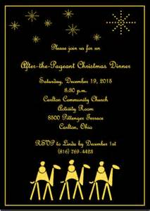 magi on camels religious christmas party invitation