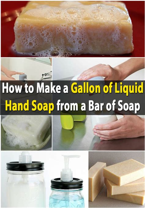 how to make liquid soap money saving diy make a gallon of liquid hand soap from a bar of soap diy crafts