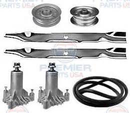 sears craftsman lt1000 42 034 mower deck rebuild kit spindles blades belt idlers ebay
