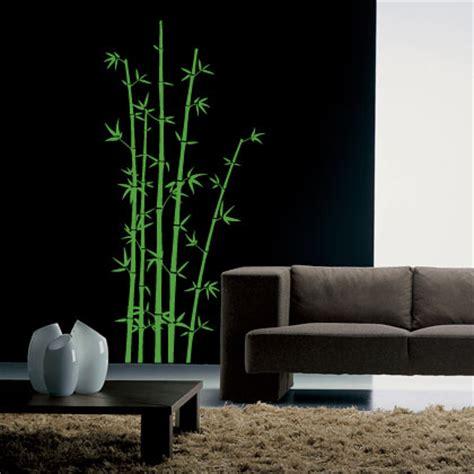 pochoir mural pas cher stickers bambou un effet bambou vert g 233 ant tr 232 s surprenant