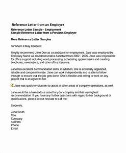 7 job reference letter templates free sample example for Job reference letter template free