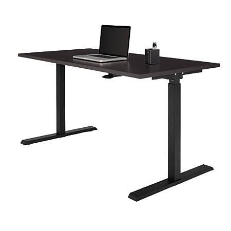 office depot standing desk realspace magellan sit stand desk espresso office depot