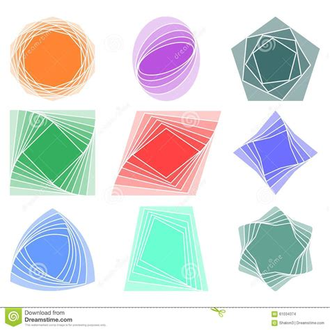 printable geometric shape ornaments set of design elements for leaflet poster print