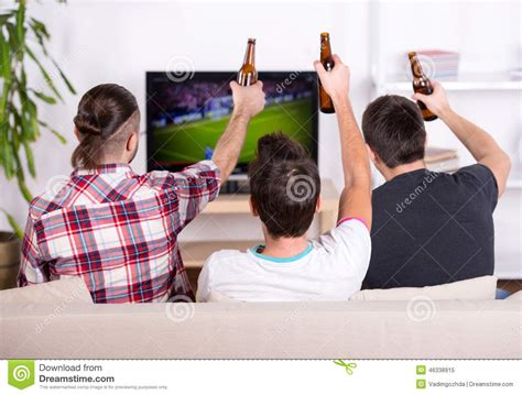 Football Fans Stock Photo Image