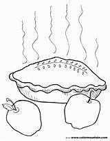Coloring Apple Pie Activity Printout Azcoloring Popular Slice Template sketch template