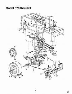Lawn Tractor Diagram  U0026 Parts List For Model 13a0670g088 Mtd