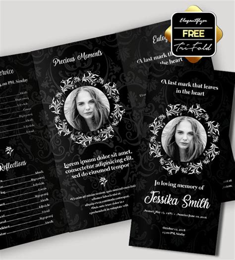 Free Invitation Trifold Brochure For Funeral In Psd By Funeral Memorial Programs 20 Free Psd Templates To