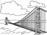 Bridge Coloring Gate Pages Golden Sheet Template 600px 81kb sketch template