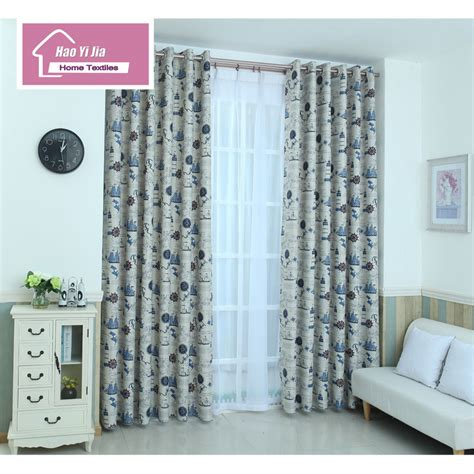 pirate ship design curtain cloth window sunshade curtain