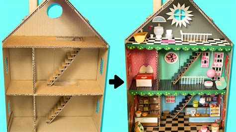 cardboard house  rooms furniture