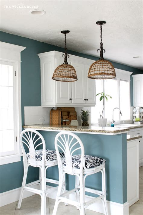 ideas for kitchen colours to paint my fresh blue kitchen reveal the wicker house