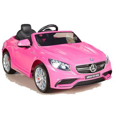 e auto kinder mercedes s63 amg pink rosa