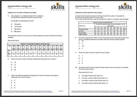 functional maths l2 statistics choice worksheet skillsworkshop