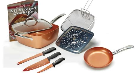 copper chef  piece pan set   shipped regularly   hipsave