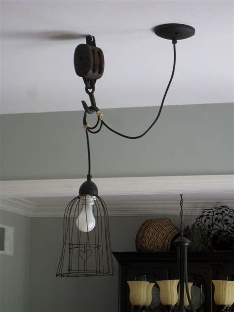 pendant light w pulley crafts