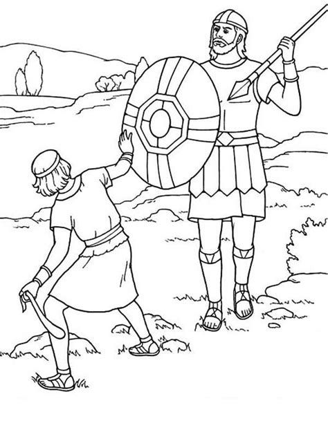 david  goliath coloring pages coloring pages